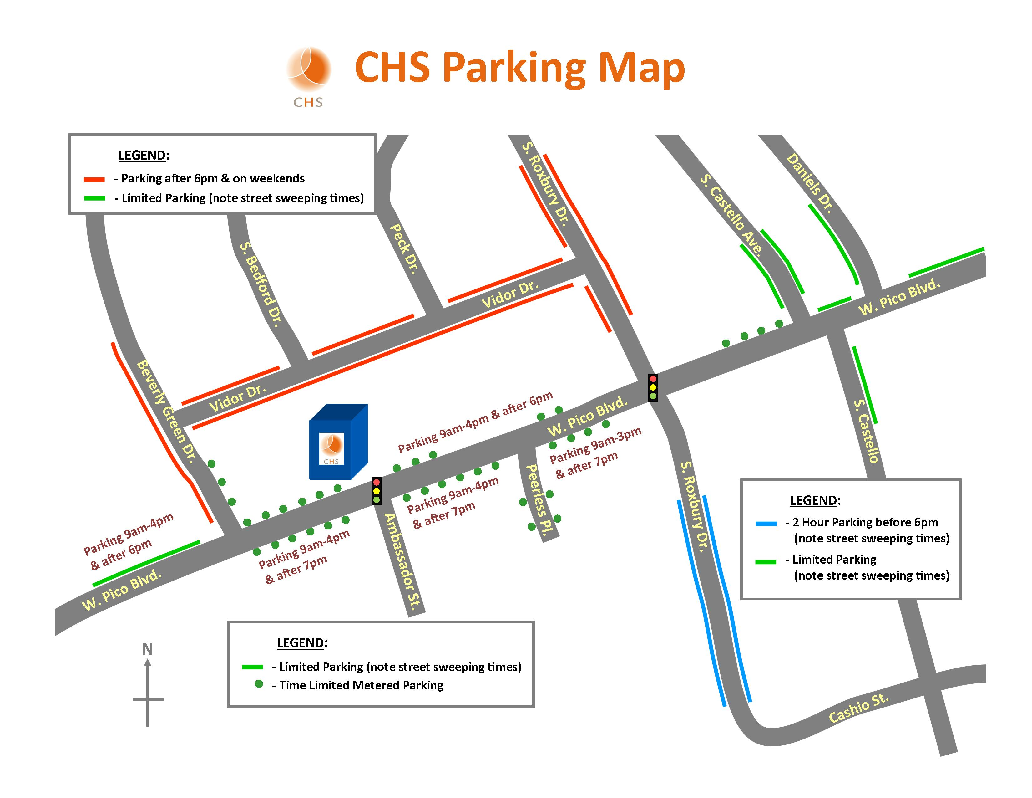 chs parking map