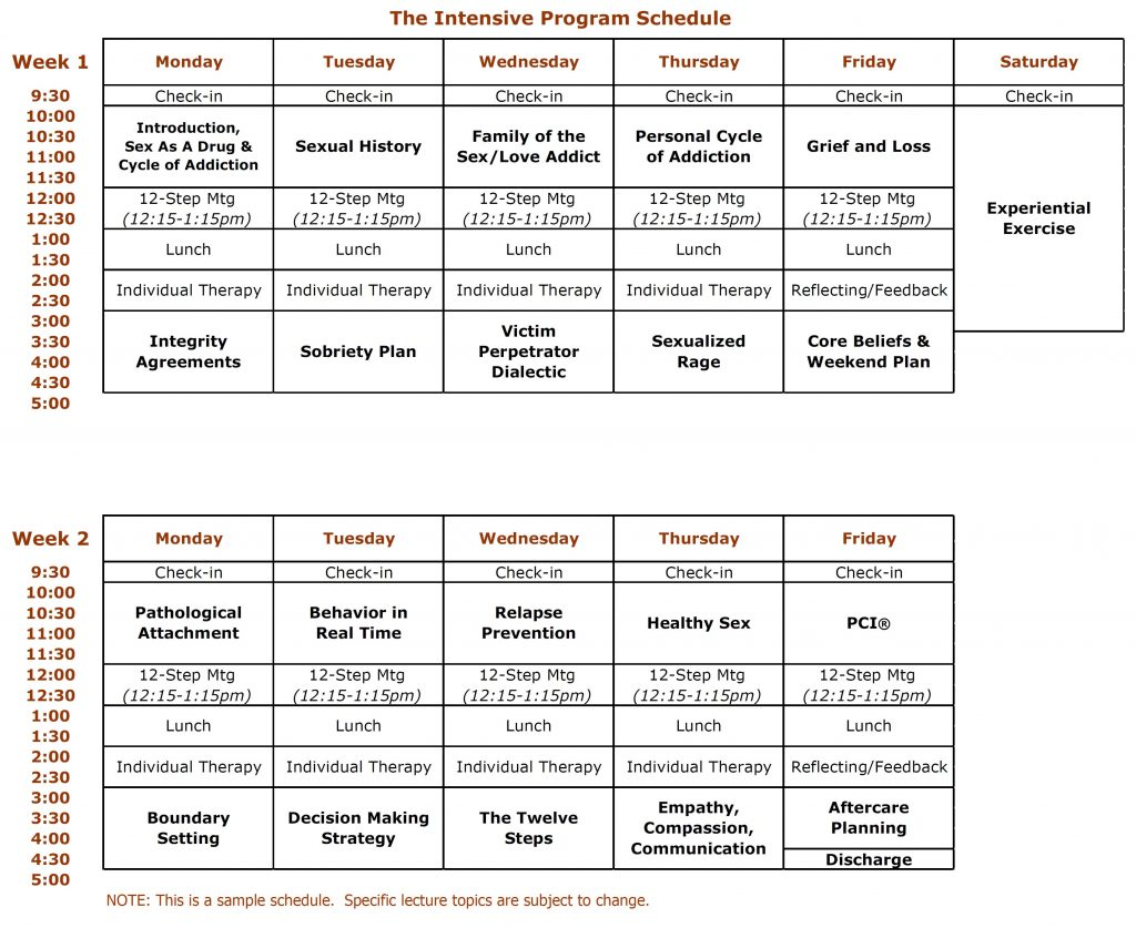 IOP Basic Schedule